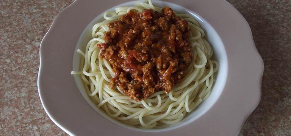 Makaron spaghetti z sosem ala gyros na mięsie mielonym (autor ...