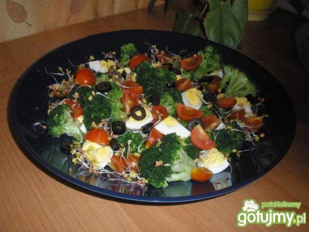 Przepis  kolorowa sałatka brokułowa 2 przepis