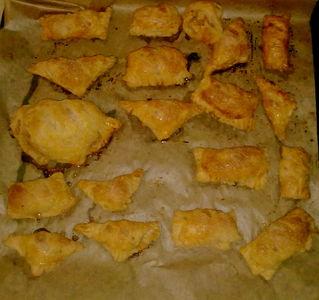 Ciasteczka francuskie z jabłkami i cynamonem