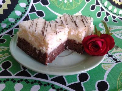 Sernik podwójnie czekoladowy z kokosową polewą ...
