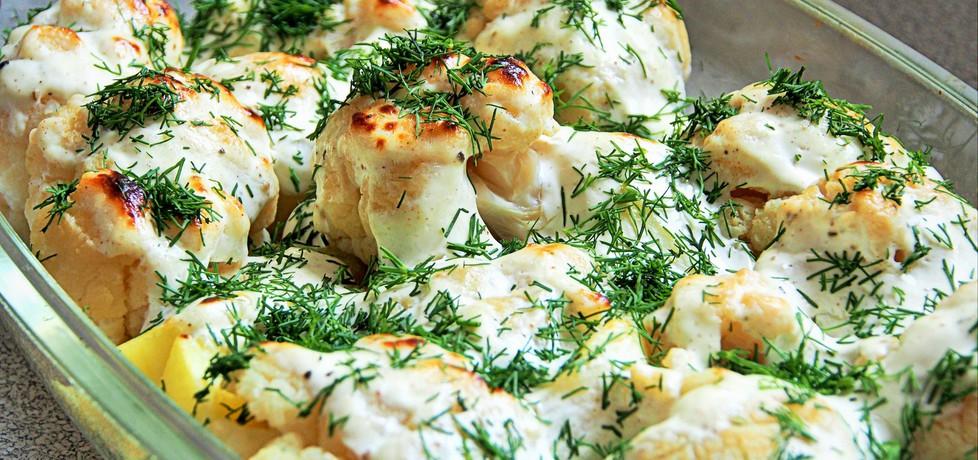 Kalafior z ziemniakami zapiekany w śmietanie (autor: futka ...