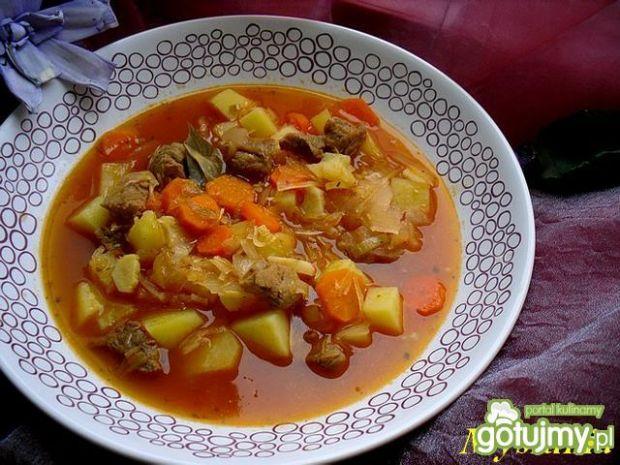 Przepis  rozgrzewająca zupa gulaszowa przepis