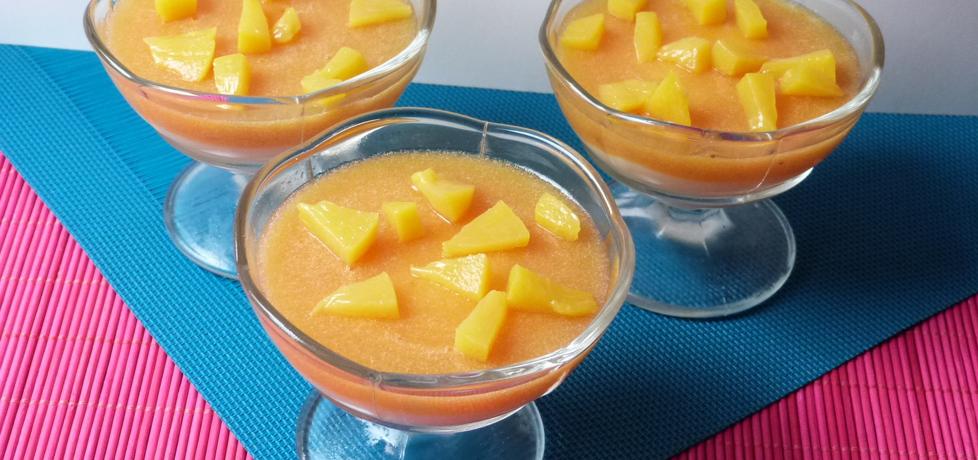 Słoneczny deser z musem brzoskwiniowym (autor: renatazet ...
