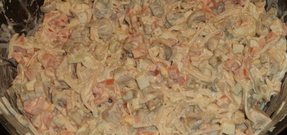 Sałatka pieczarkowa z porem (autor: rybciia)