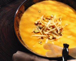 Zupa dyniowa z pistacjami  prosty przepis i składniki
