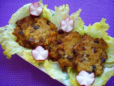 Kreatywne placuszki ryżowe z cukinią