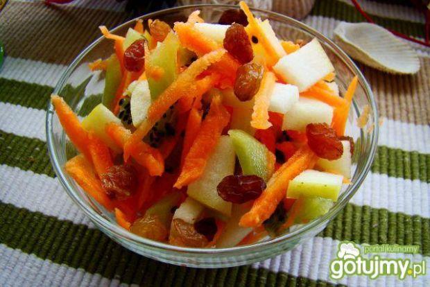 Przepis  sałatka owocowa z marchewką przepis