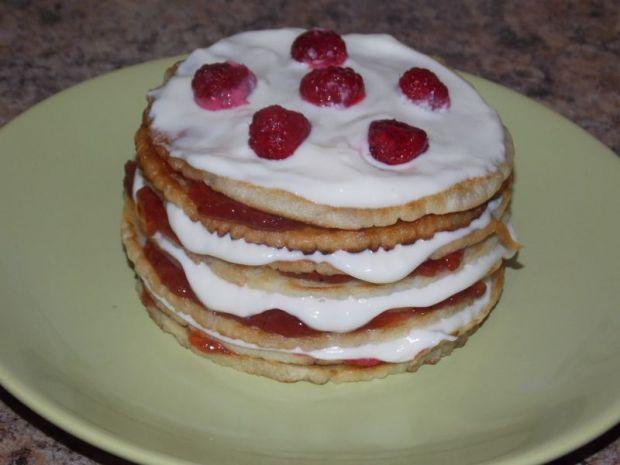 Przepis  mini tort naleśnikowy przepis