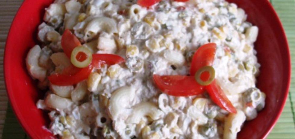 Sałatka z jajami, makaronem i tuńczykiem (autor: sarenka ...