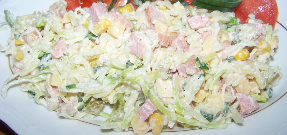 Sałatka z makaronem ryżowym według agi (autor: agas10 ...