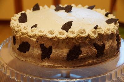 Ciasto orzechowe z masą serowo
