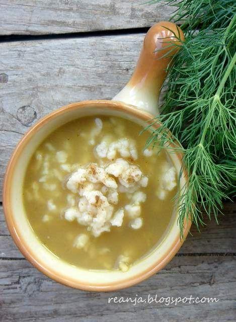 Przepis  zupa kminkowa z zacierkami przepis