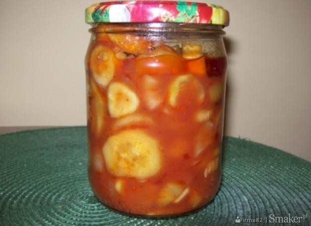 Ogórki w pomidorowej zalewie