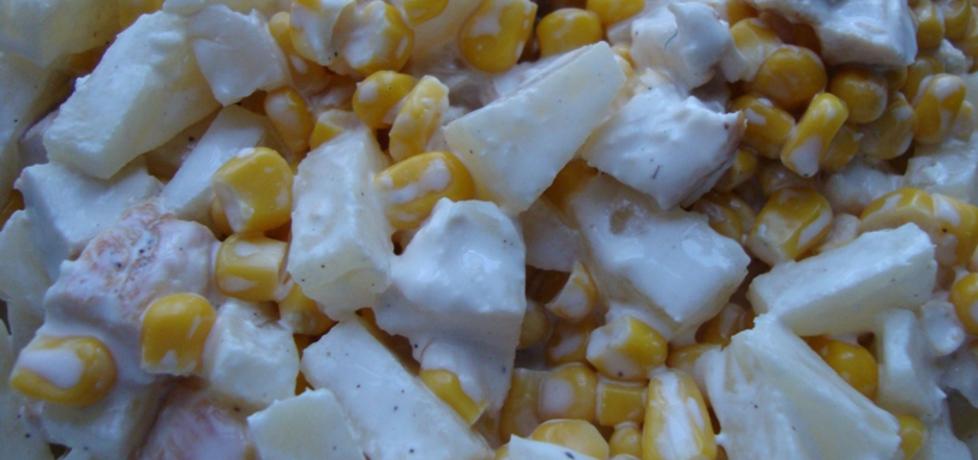 Sałatka z kurczakiem, kukurydzą i ananasem (autor: bami ...