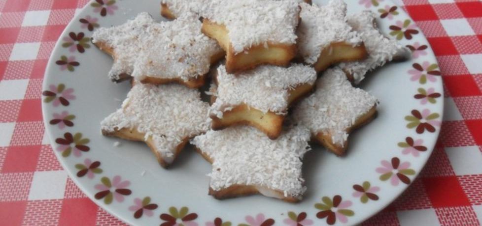 Ciasteczka serowe z białym lukrem i wiórkami kokosowymi (autor ...