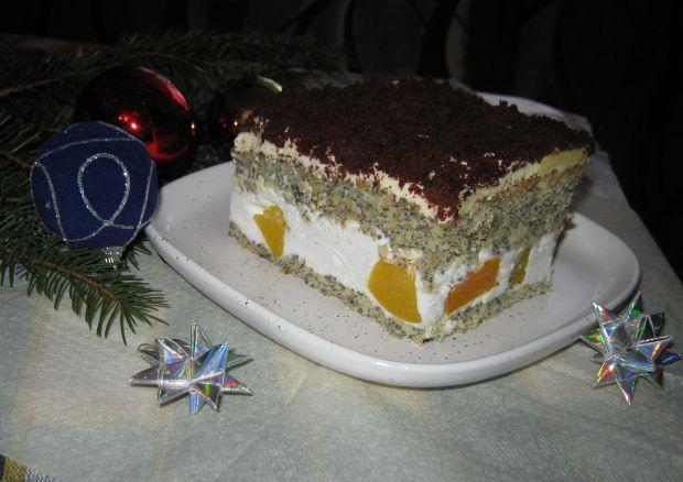 Przepis  makowe ciasto z brzoskwiniami przepis