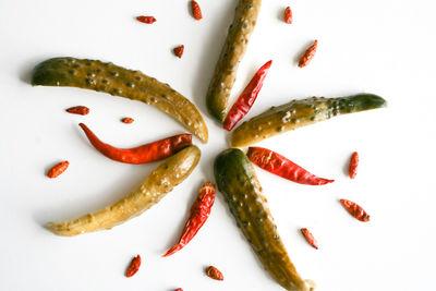 Ogórki w ostrej zalewie chilli