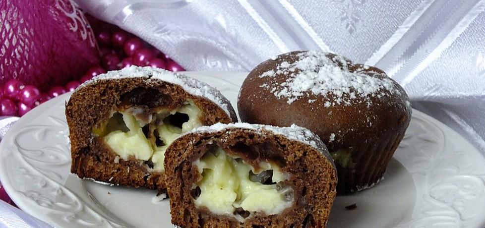 Kakaowe muffinki z budyniem kokosowym (autor: mysiunia ...