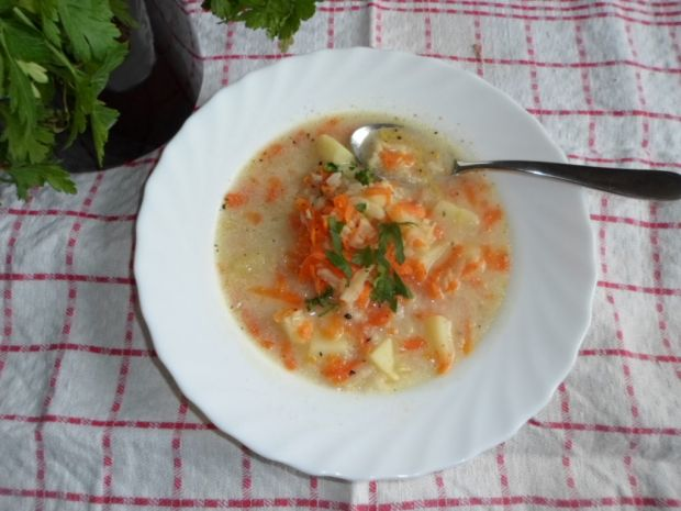 Przepis  jarzynowa zupa z ryżem przepis