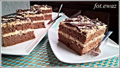 Ciasto kostka z masą mix smaków