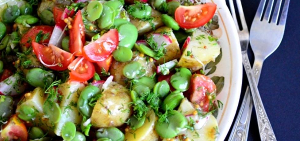 Sałatka z młodych ziemniaków z bobem (autor: bernadettap ...