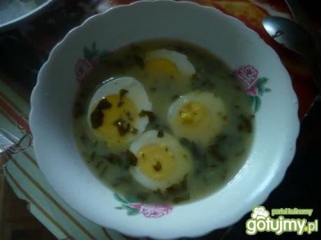 Przepis  barszcz szczawiowy z jajkiem przepis