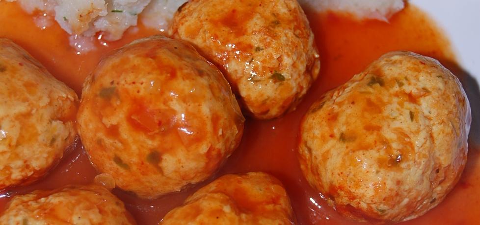 Pulpeciki z marchewką w sosie pomidorowym i pure z kalafiora ...