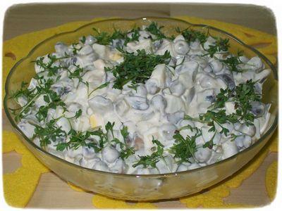 Łagodna sałatka pieczarkowa