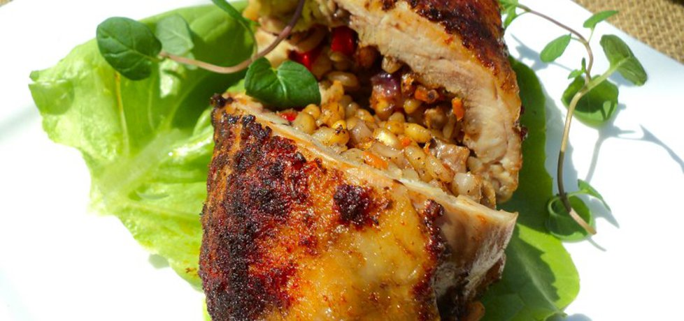 Udka z kurczaka nadziewane pęczakiem i grzybami (autor: anna133 ...