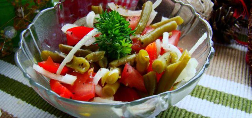 Szybka sałatka z fasolki szparagowej konserwowej (autor: iwa643 ...