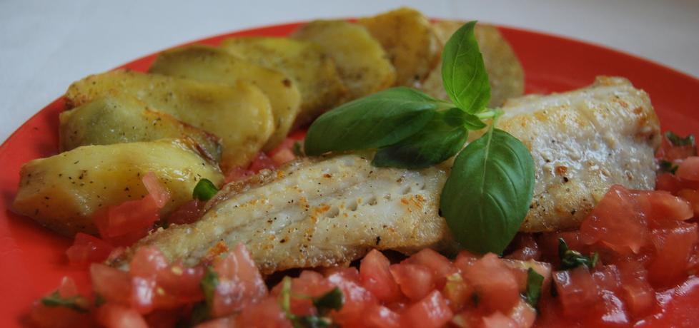 Filet z mintaja z pomidorami i bazylią (autor: jolanta40 ...