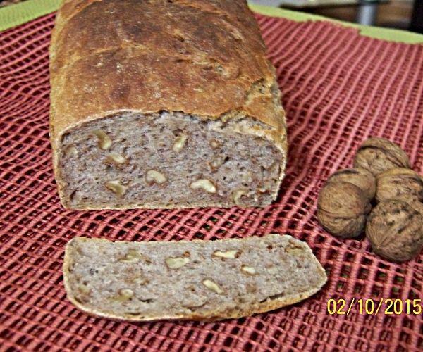 Przepis  chleb na zakwasie żytnim z orzechami przepis