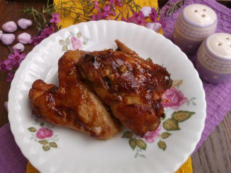 Przepis  skrzydełka w marynacie ketchupowo