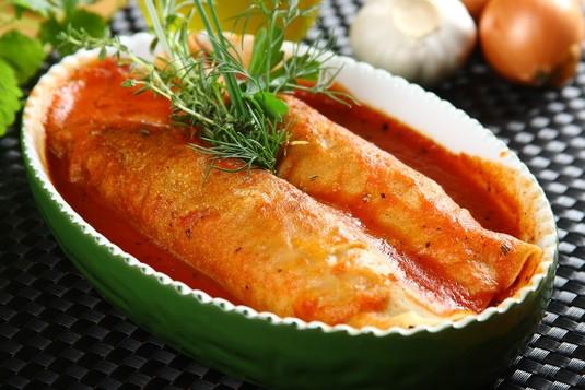 Włoskie roladki z kurczakiem i szpinakiem