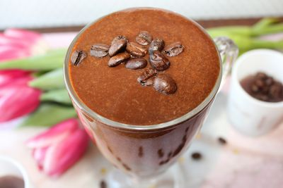 Odżywczy i pobudzający shake/koktajl kawowo