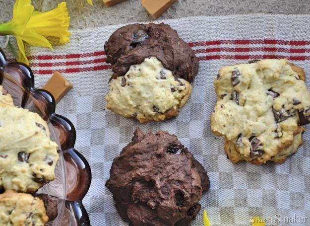 Kruche ciastka z czekoladą i krówkami