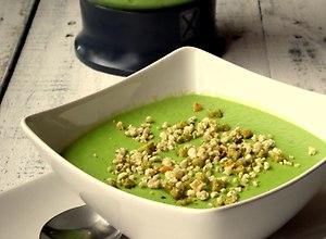 Zupa krem z zielonego groszku  przepis blogera