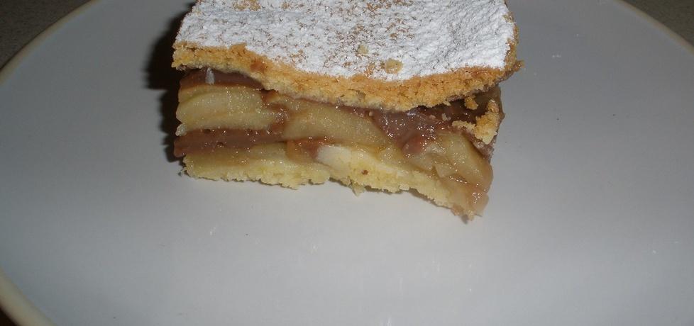 Ciasto z jabłkami i budyniem czekoladowym (autor: monika141 ...