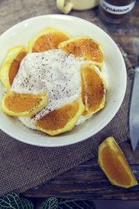 Serek budwigowy pomarańczowo
