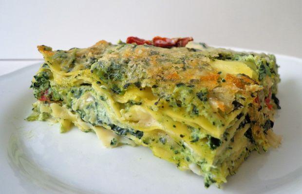 Przepis  lasagne z jarmużem i ricottą przepis