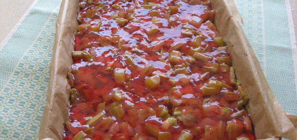 Placek z rabarbarem i galaretką (autor: anemon)