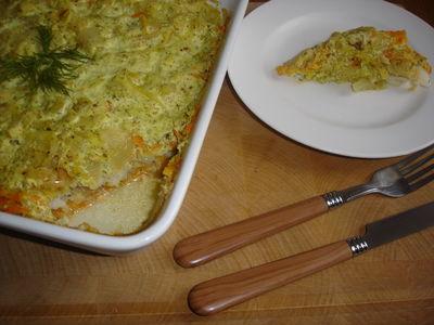 Morszczuk zapiekany w warzywach i sosie cytrynowym ...