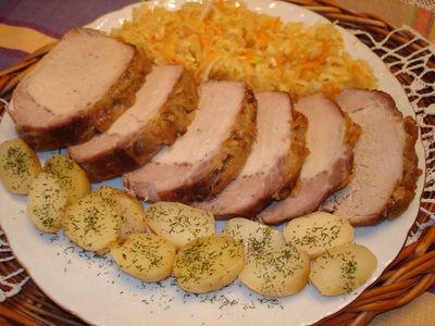 Schab pieczony z ziemniakami