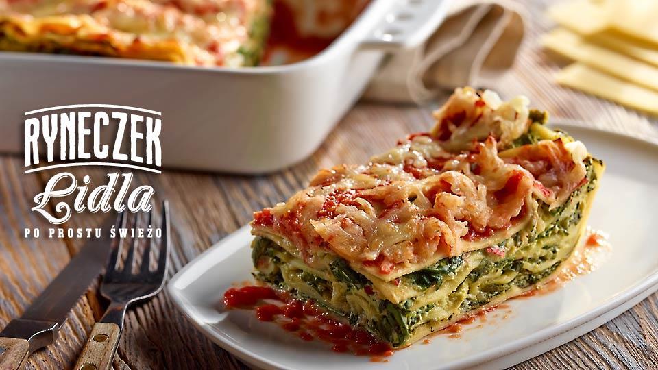 Lasagne ze szpinakiem i pomidorami