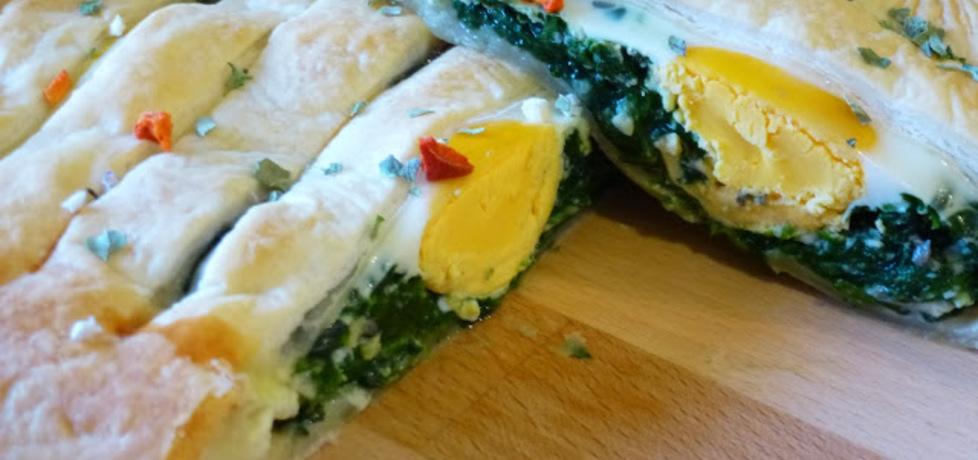 Szpinak z jajkiem w cieście francuskim (autor: marchiochakucharzy ...