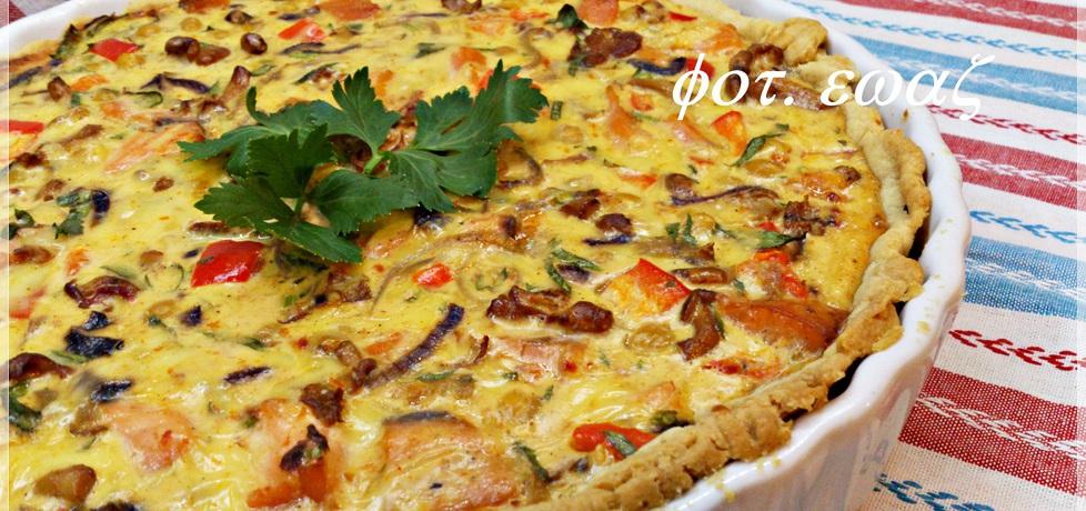 Tarta z ciecierzycą, łososiem i kurkami zewy (autor: zewa ...