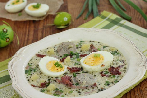 Przepis  zupa chrzanowa z jajem przepis