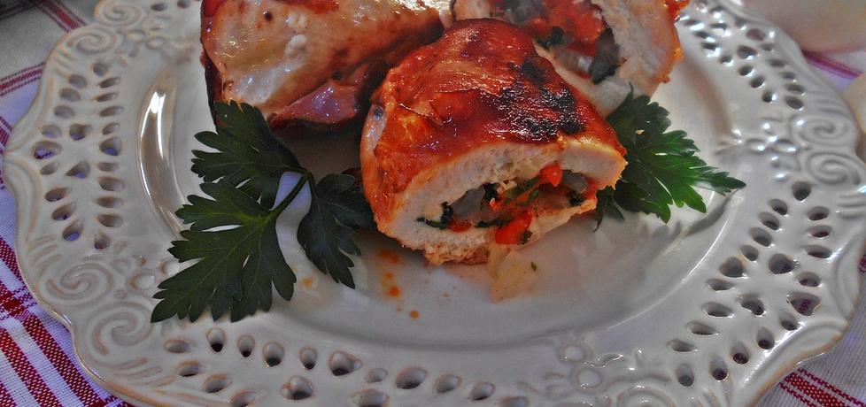 Pierś z kurczaka z papryką w boczku (autor: beatris ...
