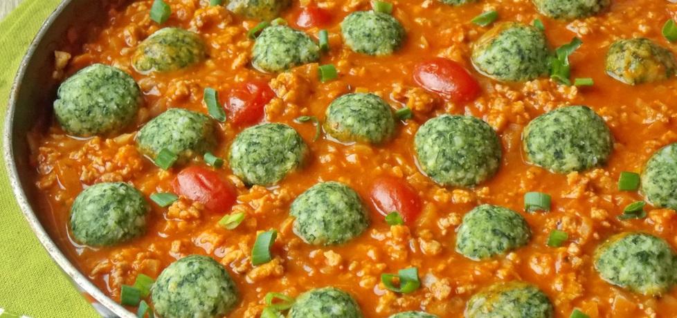 Jaglane klopsiki ze szpinakiem w sosie pomidorowym (autor: mniam ...