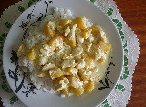 Kurczak z brzoskwiniami  prosty przepis i składniki
